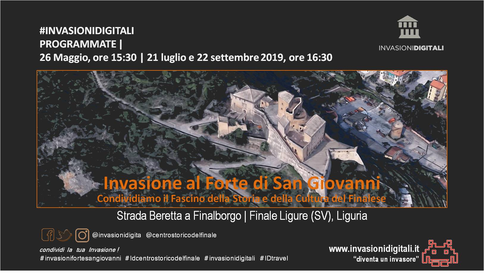 Invasione al Forte San Giovanni. Storia e Cultura del Finalese (22/09/2019)